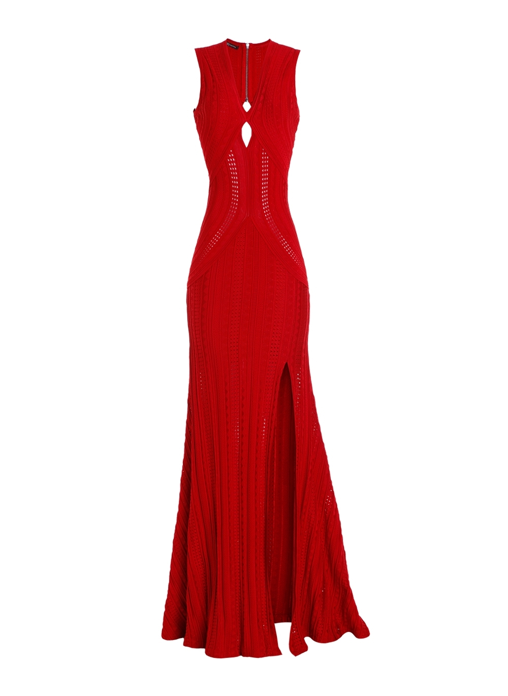 Vestido Bo.bô Longo Tricot Amanda Feminino (Vermelho Medio, M)