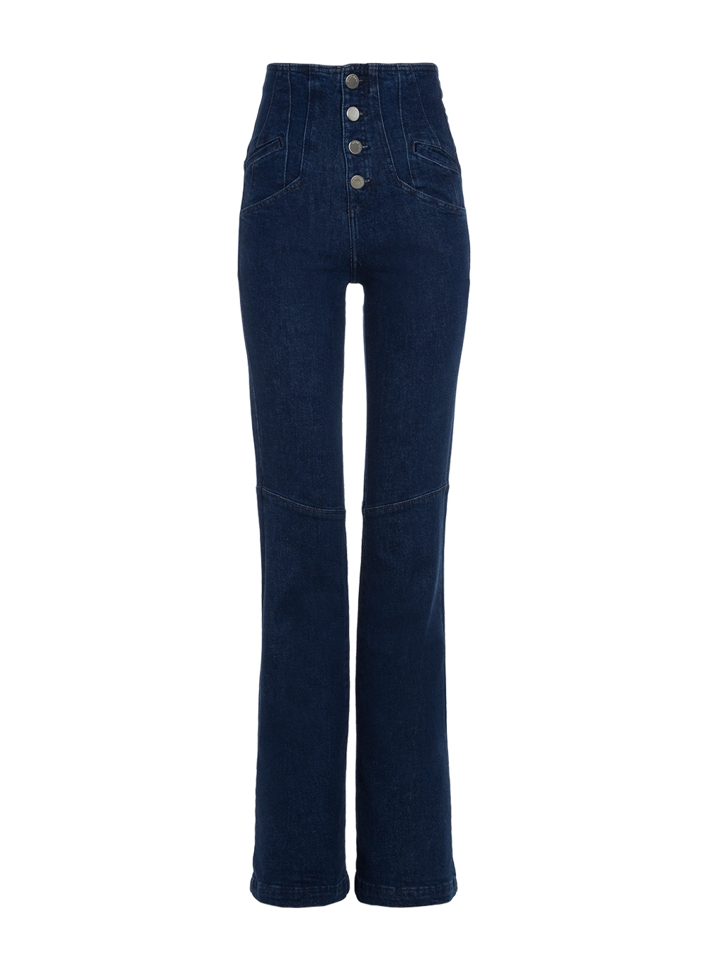 Calça Bo.bô Mari Flare Feminina (Jeans Escuro, 36)