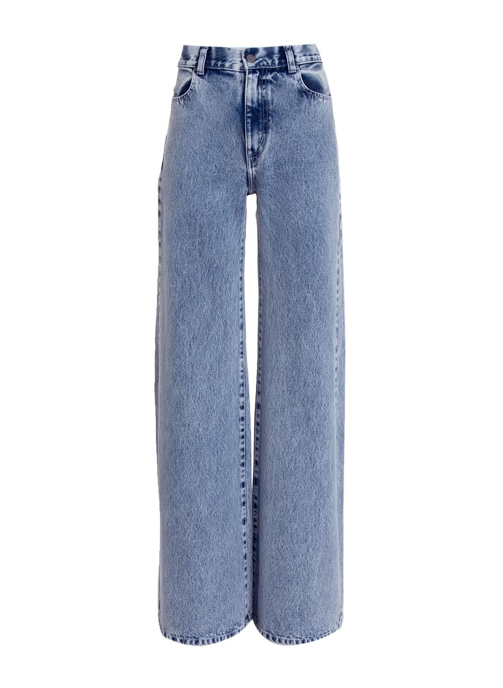 Calça Rosa Chá Marte Ii Feminina (Jeans Claro, 34)