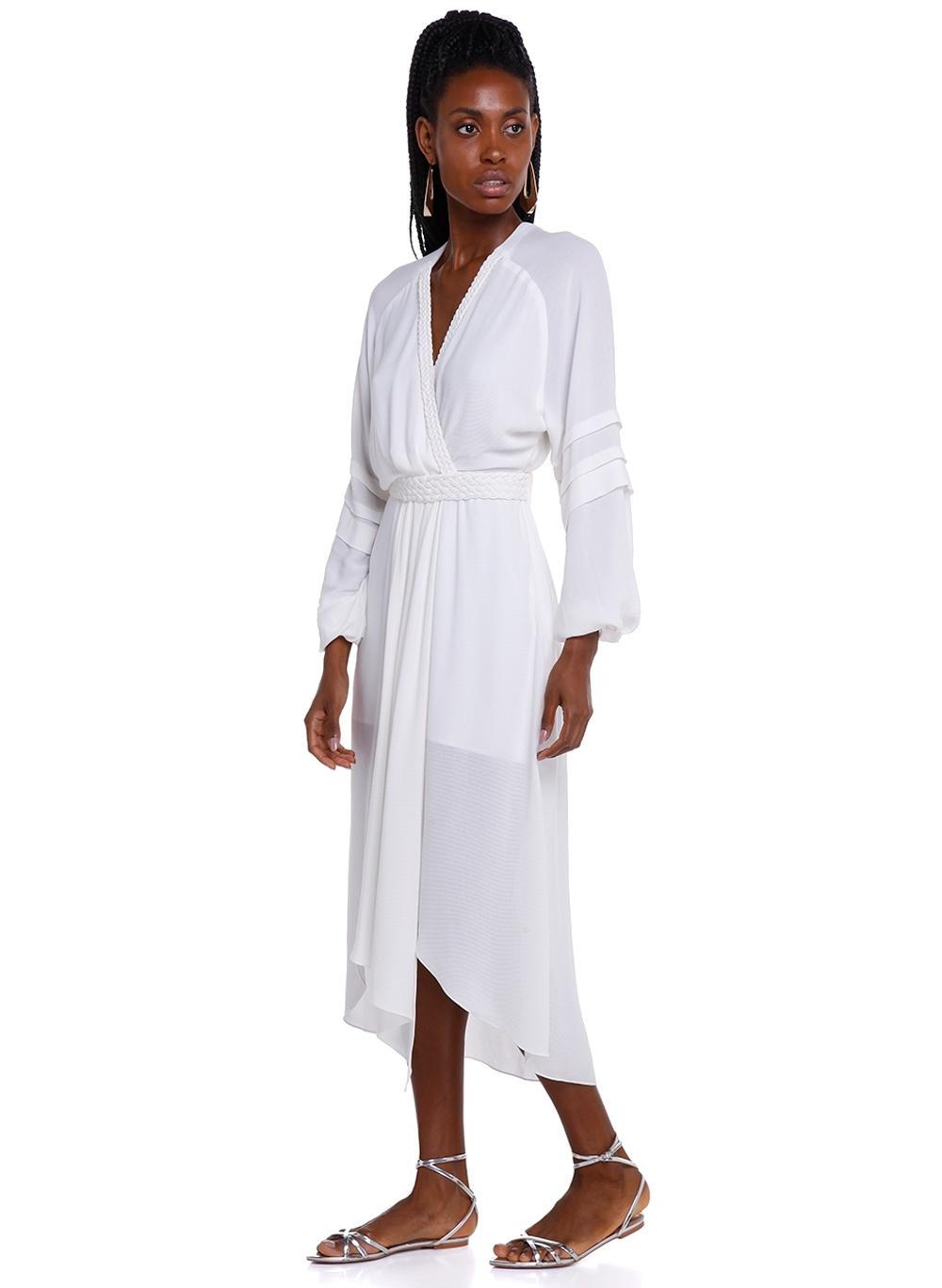 Vestido Rosa Chá Eli Off White Feminino (Off White, 40)